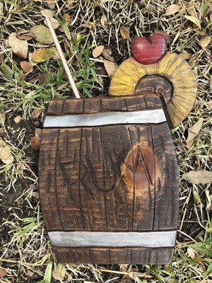 Wood carving: R Barrel Drink (2)
