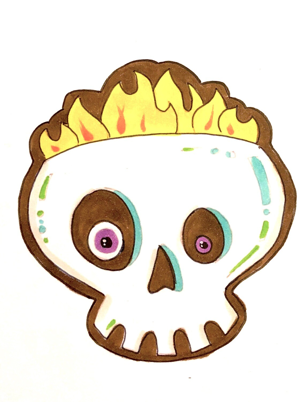 Cookie: Skull Tiki (Coffee Diablo)