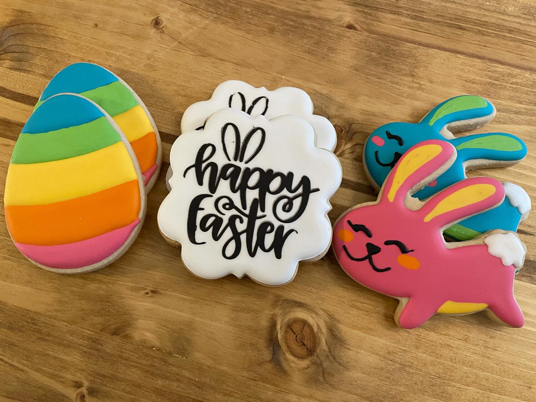 """Happy Easter"" Cookies"