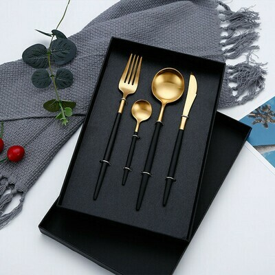 The Peridot Cutlery Set - Black