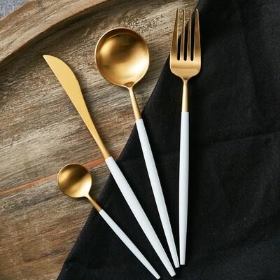 The Peridot Cutlery Set - White