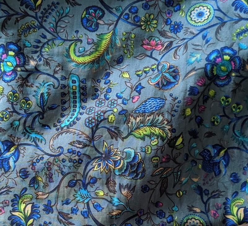 Blue Peacock Loungewear Set (M)