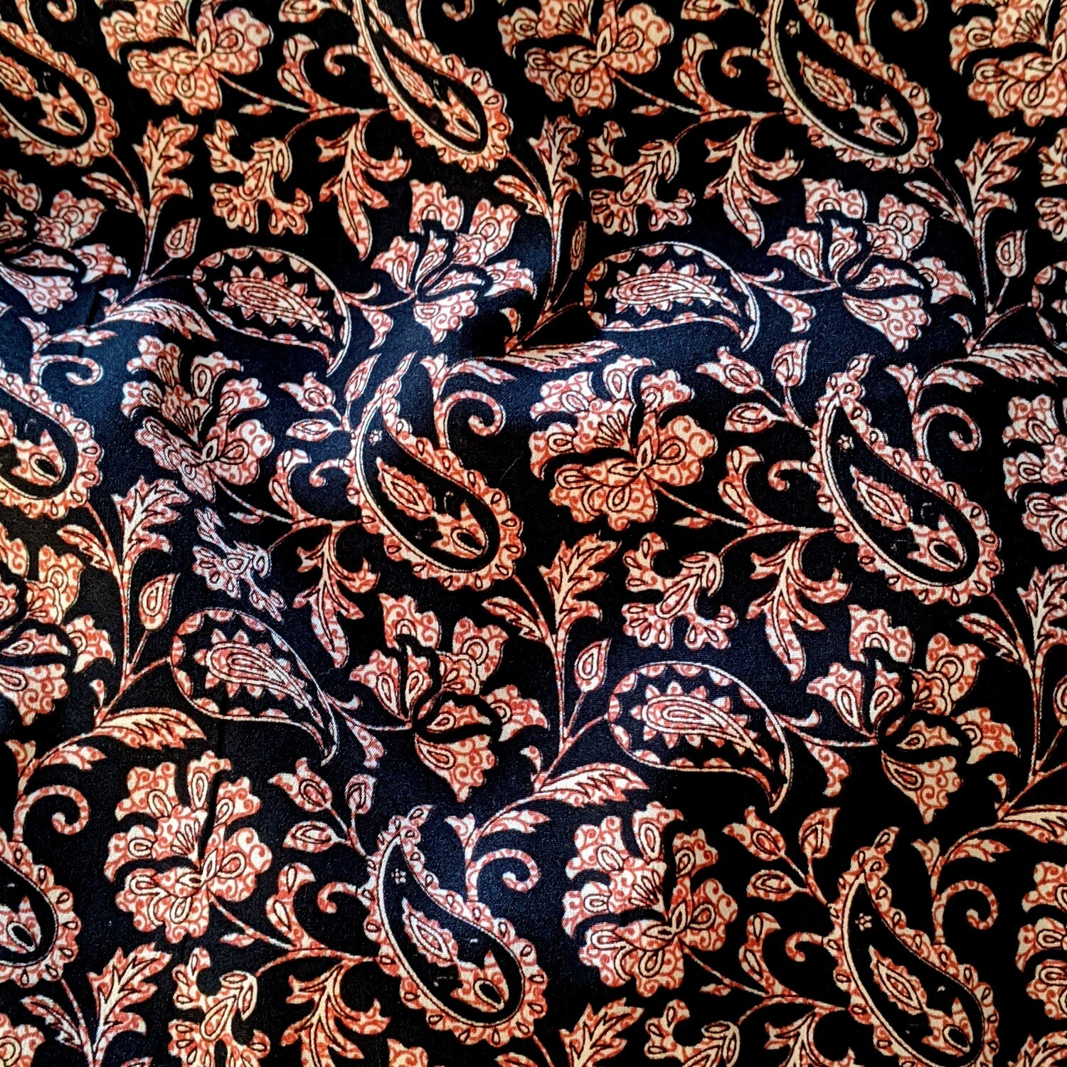 Black Paisley PJ Bottoms (M/L)