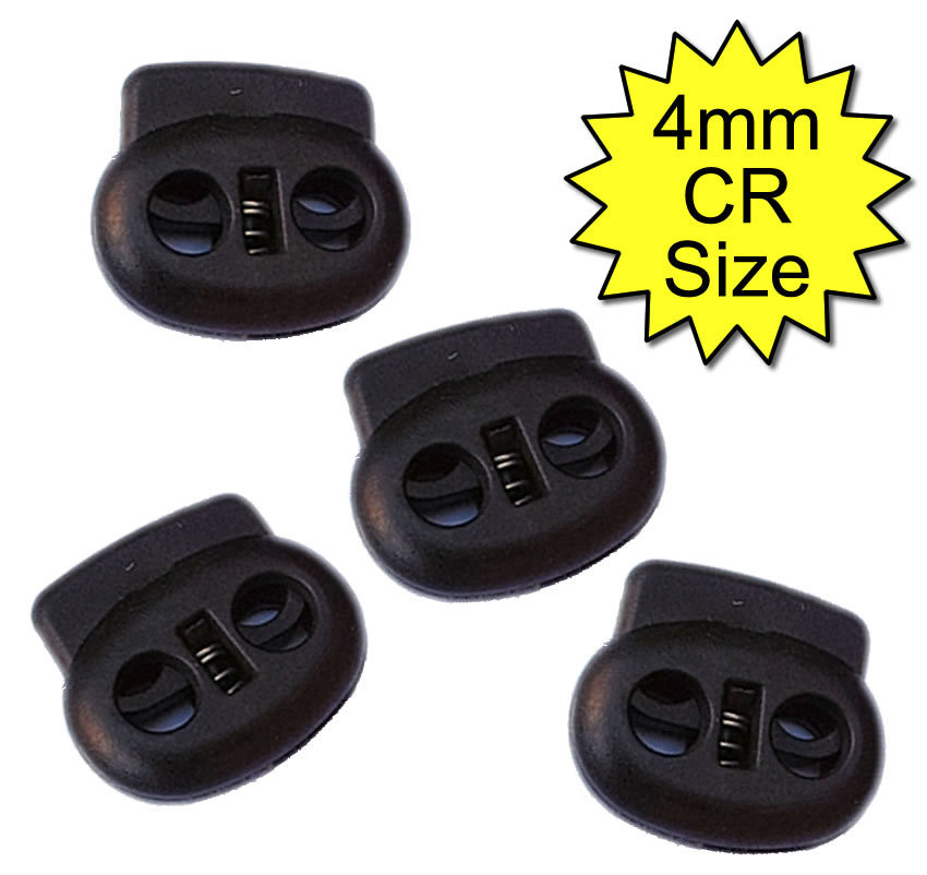 4mm Conductive Rubber Tubing Clips Black
