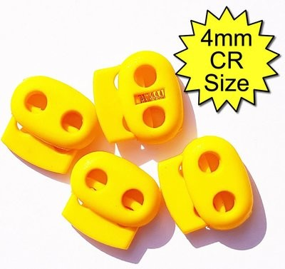 4mm Conductive Rubber Tubing Clips Yellow
