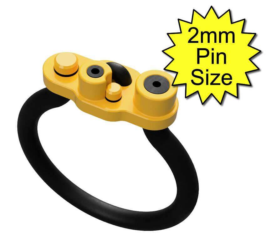 Bipolar Estim Penis Play Conductive Rubber Cock Loop/Ring