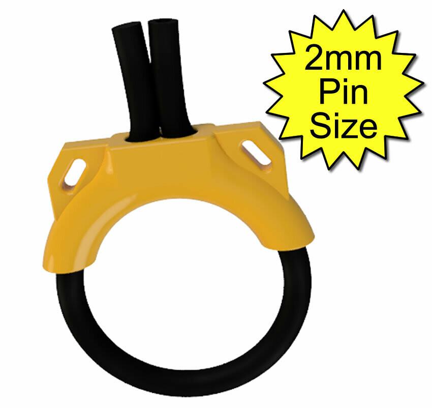 Estim Penis Play Conductive 6mm Rubber Cock Loop & Tie Down Insulator 2mm Plug