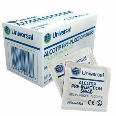 Universal Pre-Injection Swabs (Pack of 12)