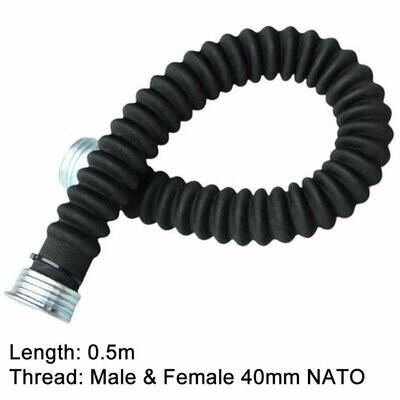 Hose Connector 50-55cm Length Gas Mask NATO 40mm Thread