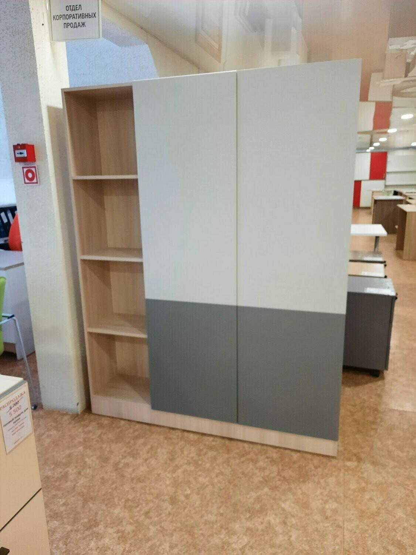 Секция шкафов для одежды и документов, двухсторонний.