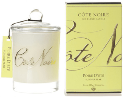 CÔTE NOIRE SOY BLEND SCENTED CANDLE SUMMER PEAR