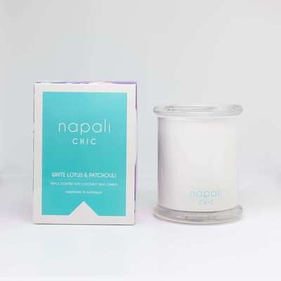 Napali Chic Candle 300g (White Lotus & Patchouli)