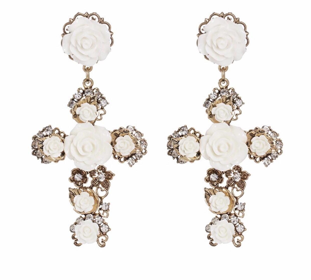 BAROQUE CROSS Earrings