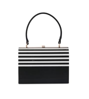 Olga Berg Lucille Acrylic Top Handle Bag