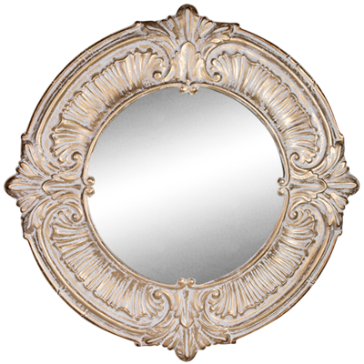 Pressed Metal Round Mirror 98cm