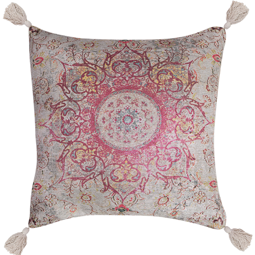 Polycotton Chenille Digital Print Cushion with Insert
