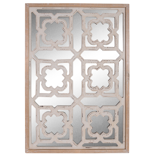 Decorative Mirror with Wood frame 88x62cm