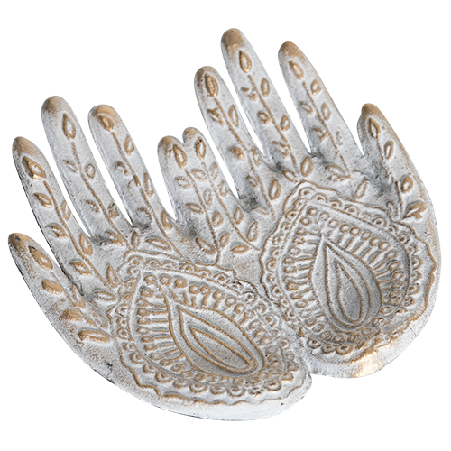 Kashgar Collection - Metal Trinket Tray - Mehndi