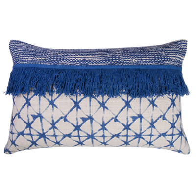 Embellished Cotton Cushion 40x60cm - cushion cover with insert