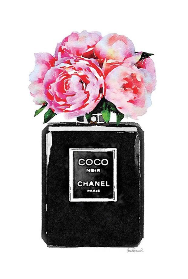 Bottle flowers noir pink peony