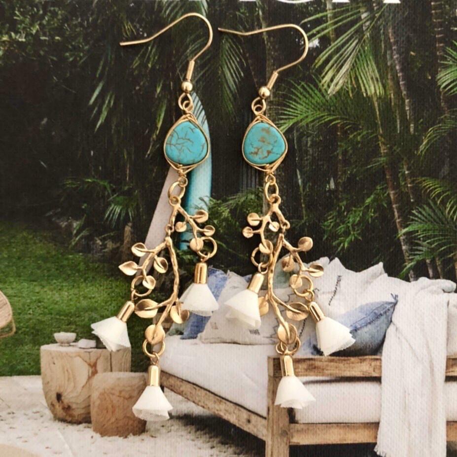 Gold Bohemian Luxe Earrings