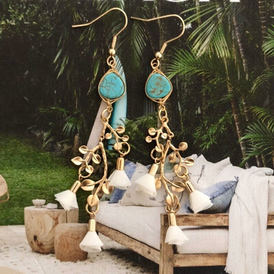 Gold Bohemian Luxe Earrings