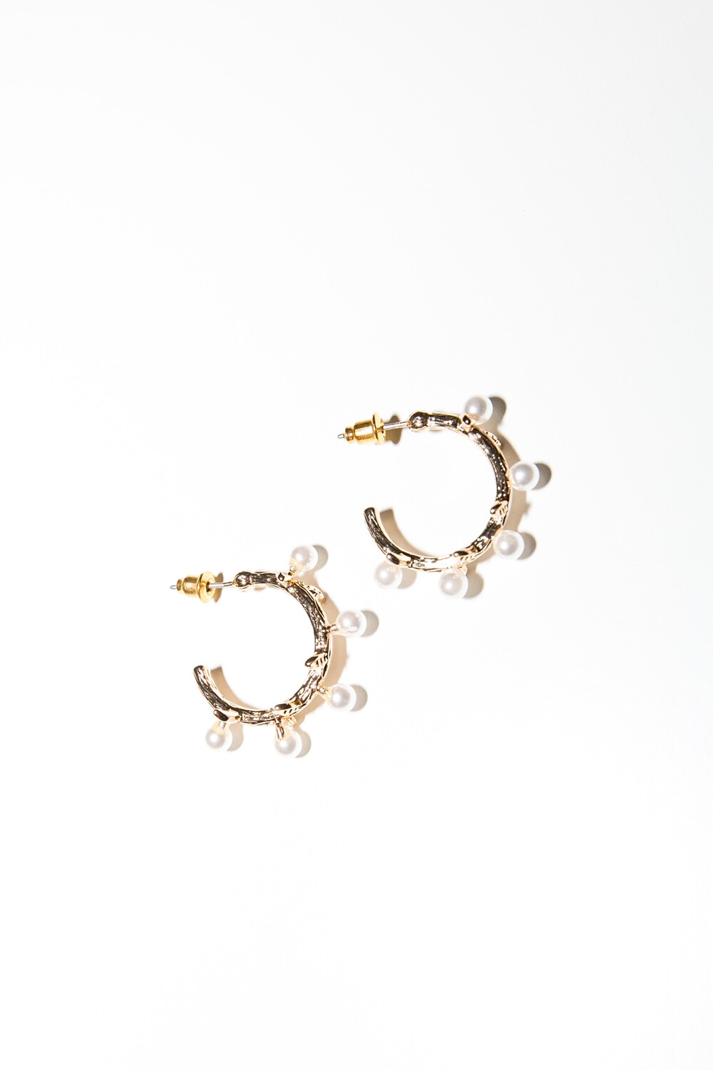 Mary Hoop Gold Earrings