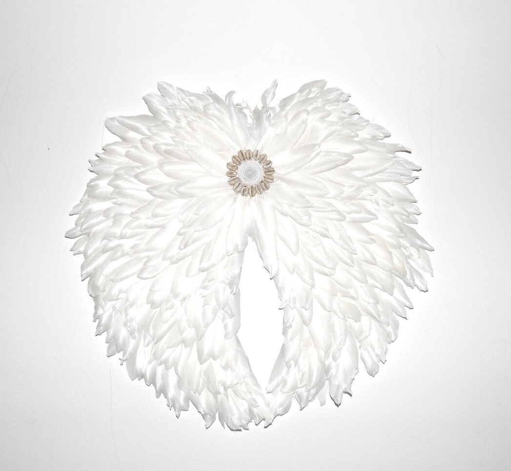 Angel Wing White feather Juju 50cm