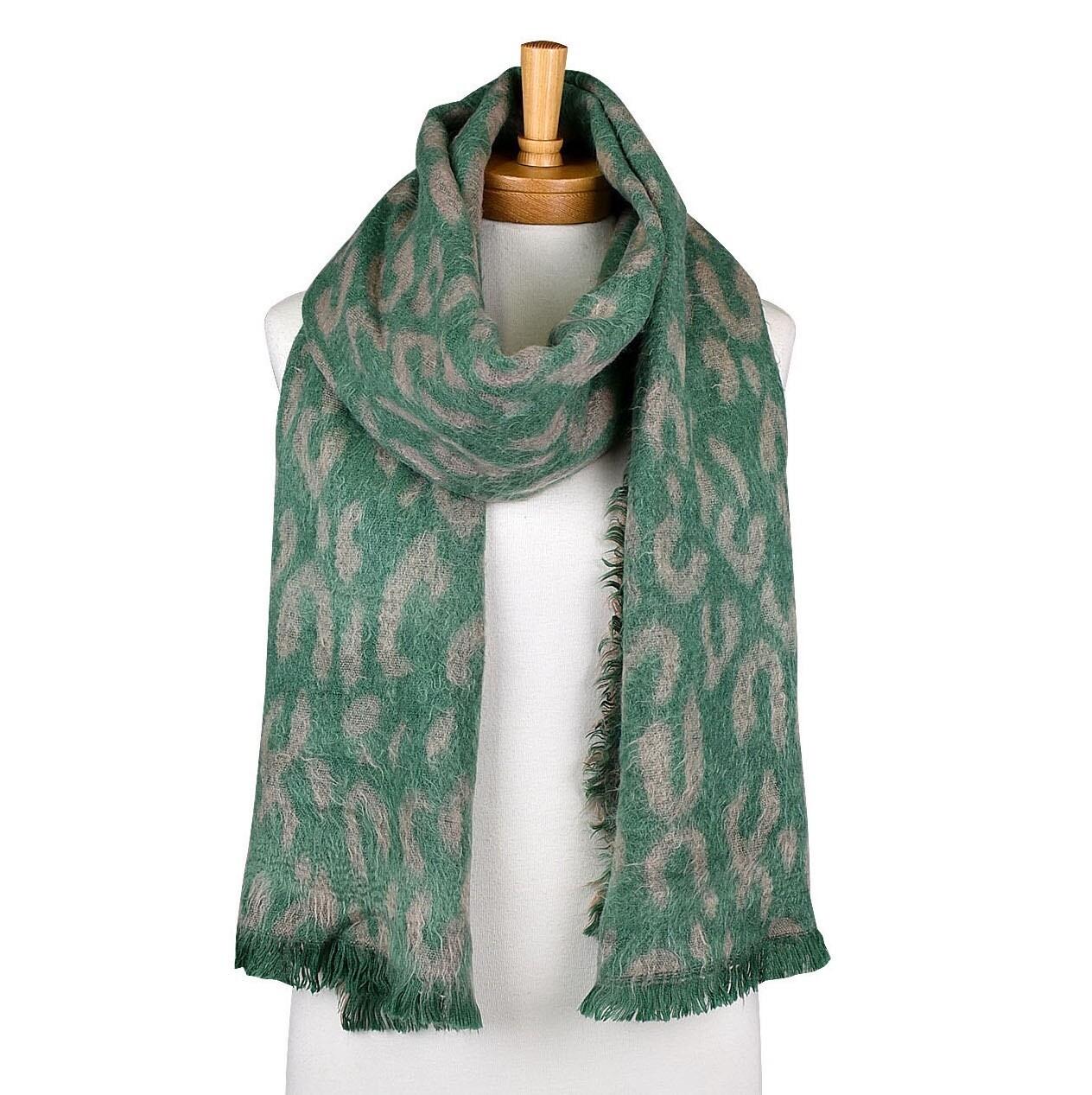 Green leopard Print Scarfe TSS2033