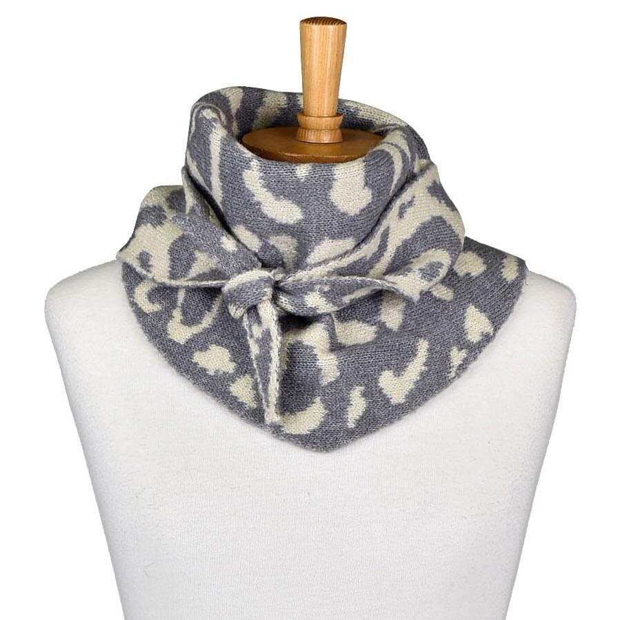 Leopard Print Grey Scarfe THSS2069
