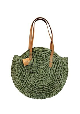 Susie Straw Tote