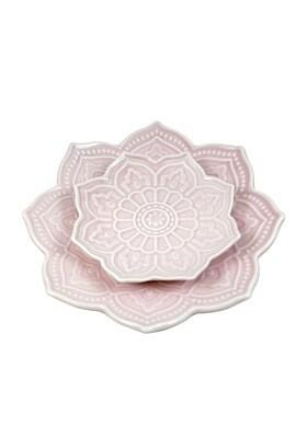Mandala Plate Set Pink