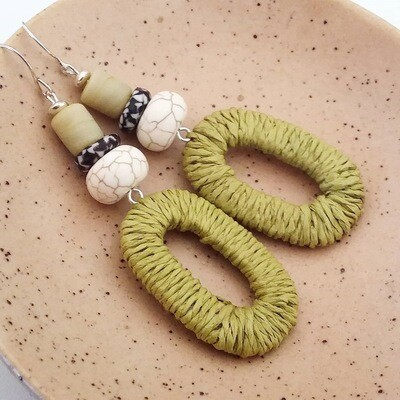 Lunar Raffia Earrings