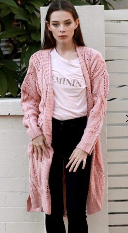 Paloma Knit Cardigan Pink