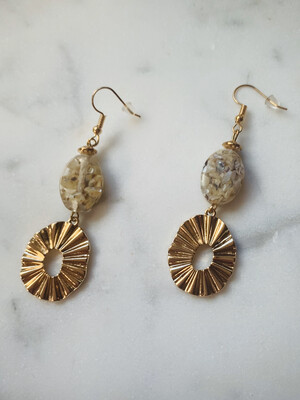 Golden Sun Ray Earrings