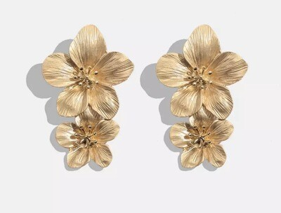 Madeline Gold Flower Earrings