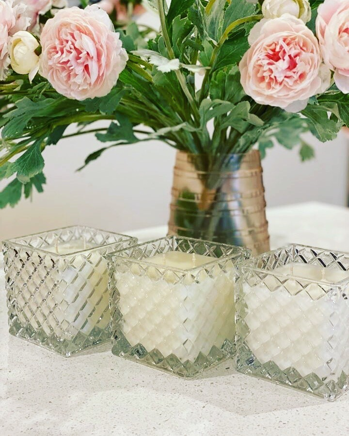 Square Glass Candle