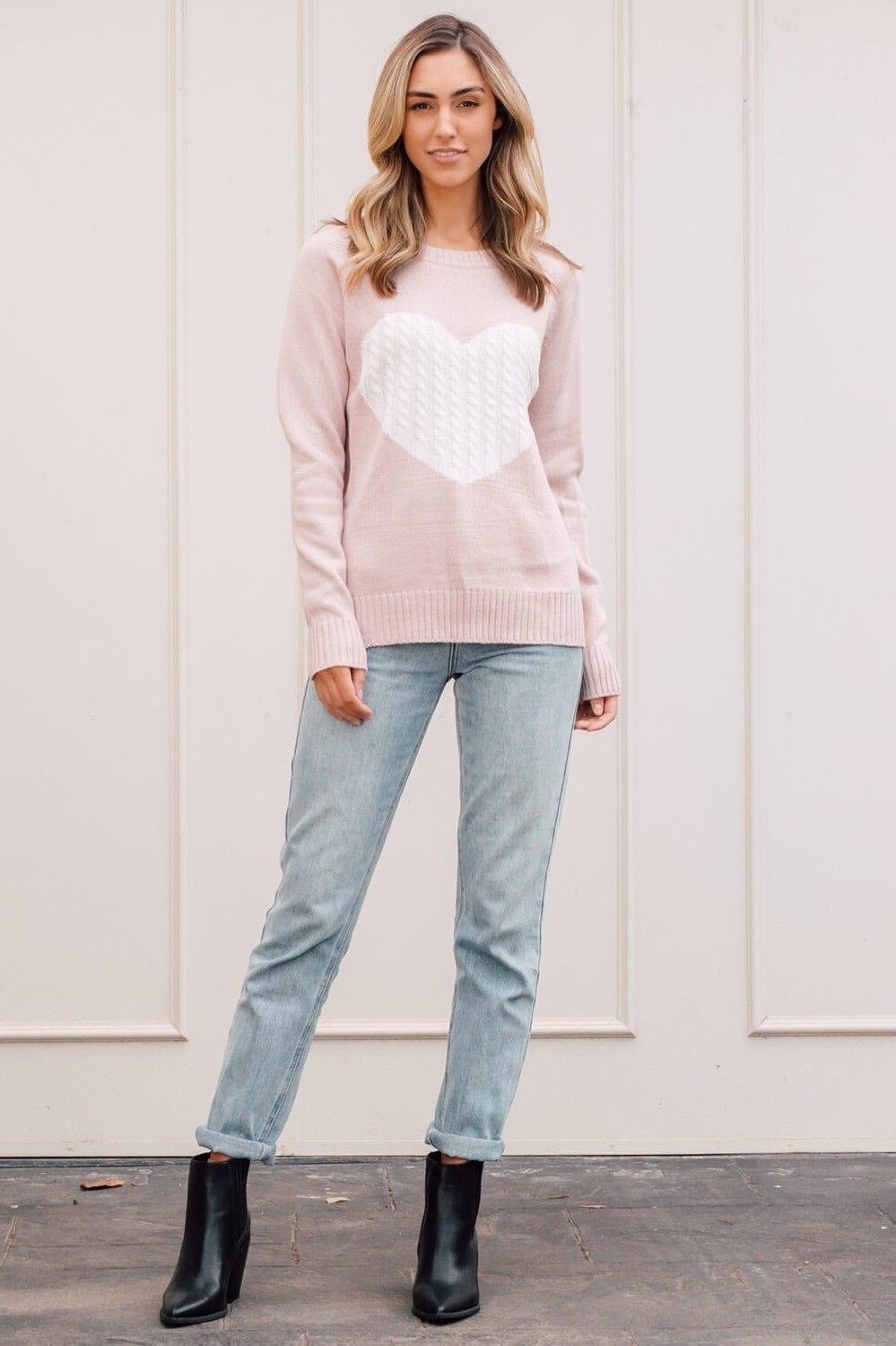 Pink Heart Jumper