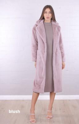 Erielle Long Coat Blush