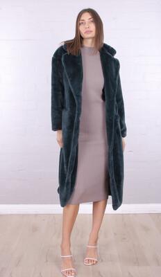 Erielle Long Coat Emerald
