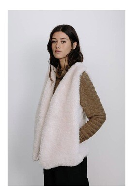 Soft Pink Faux fur Vest