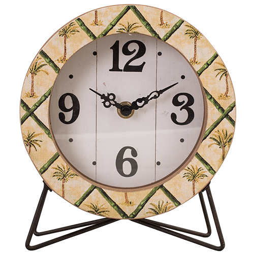 Round Desk Clock - Palm Collection