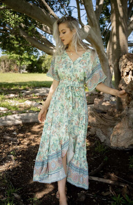 Leti Maxi Floral Dress