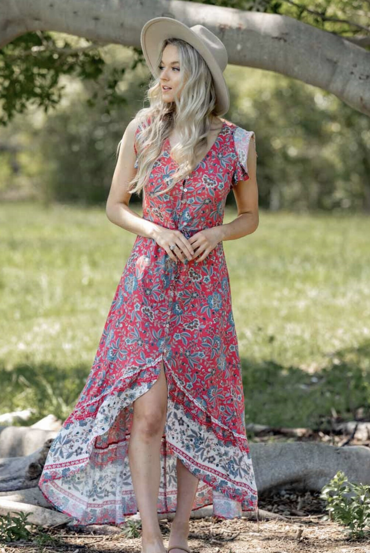 Chrissy Maxi Floral Dress