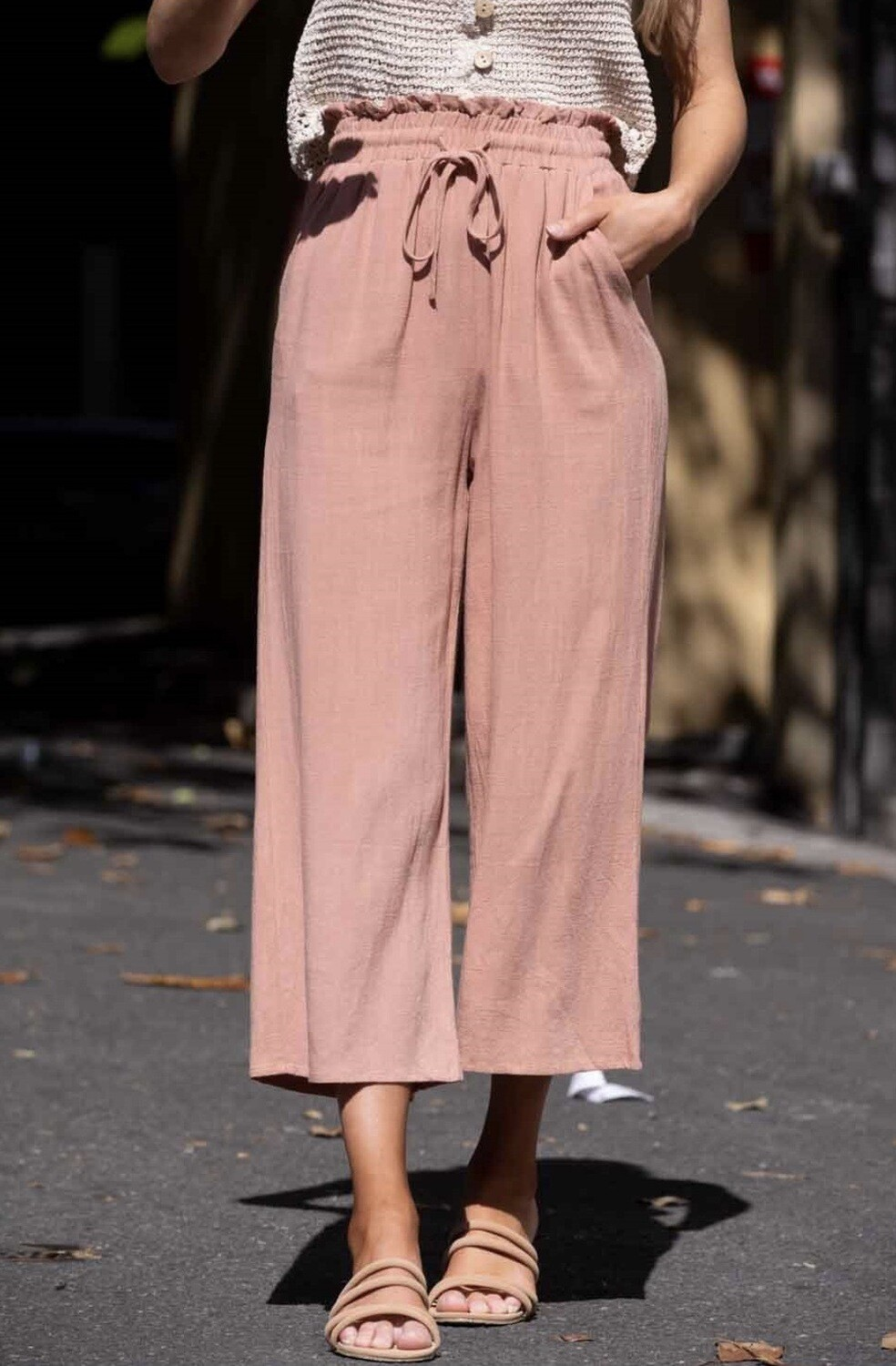 Blush Wide leg Pants