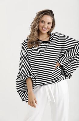 Barbara Top Black Stripe