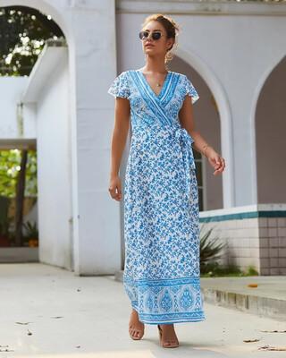 Santorini Wrap Dress (Coming Soon)