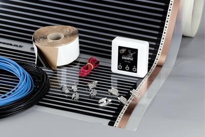 Комплекти BASIC за подово отопление, 150 Вт/кв.м, инфрачервено отоплително фолио и термостат