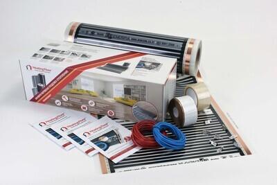 Комплекти BASIC за подово отопление, 150 Вт/кв.м, инфрачервено отоплително фолио, ширина на фолиото 50 и 100 см