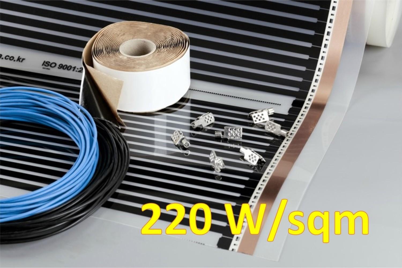Комплекти BASIC за подово отопление, 220 Вт/кв.м, инфрачервено отоплително фолио